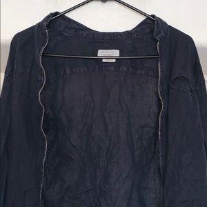 Zara Man Linen Shirt with Zipper